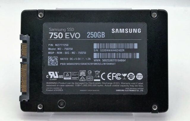 Samsung SSD 250GB EVO 750